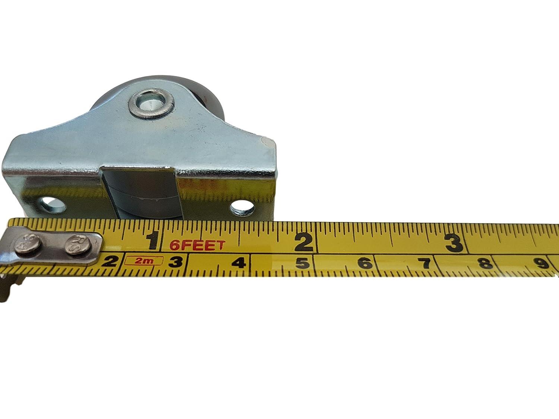 f/ür M/öbel 25/mm Gummirollen-Set aus Kunststoff Metall mit Platte Ger/äte /& Ausr/üstung drehbar Doppelrollen kleine Mini-Rollen