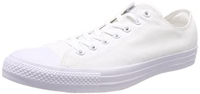 b6f8aaf27652 Converse Unisex Chuck Taylor All Star Ox Low Top Classic White Sneakers -  49 EU