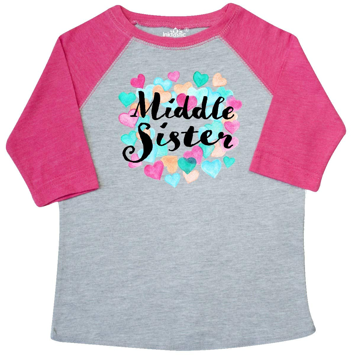 inktastic Middle Sister Hearts Toddler T-Shirt