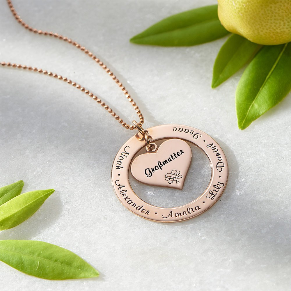 Grandmother / Mother Necklace - Personalized Gold Engraving with Names - Gift for Her by My Name Necklace (Image #3)