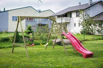 Altalena Con Scivolo Da Giardino Per Bambini In Legno D