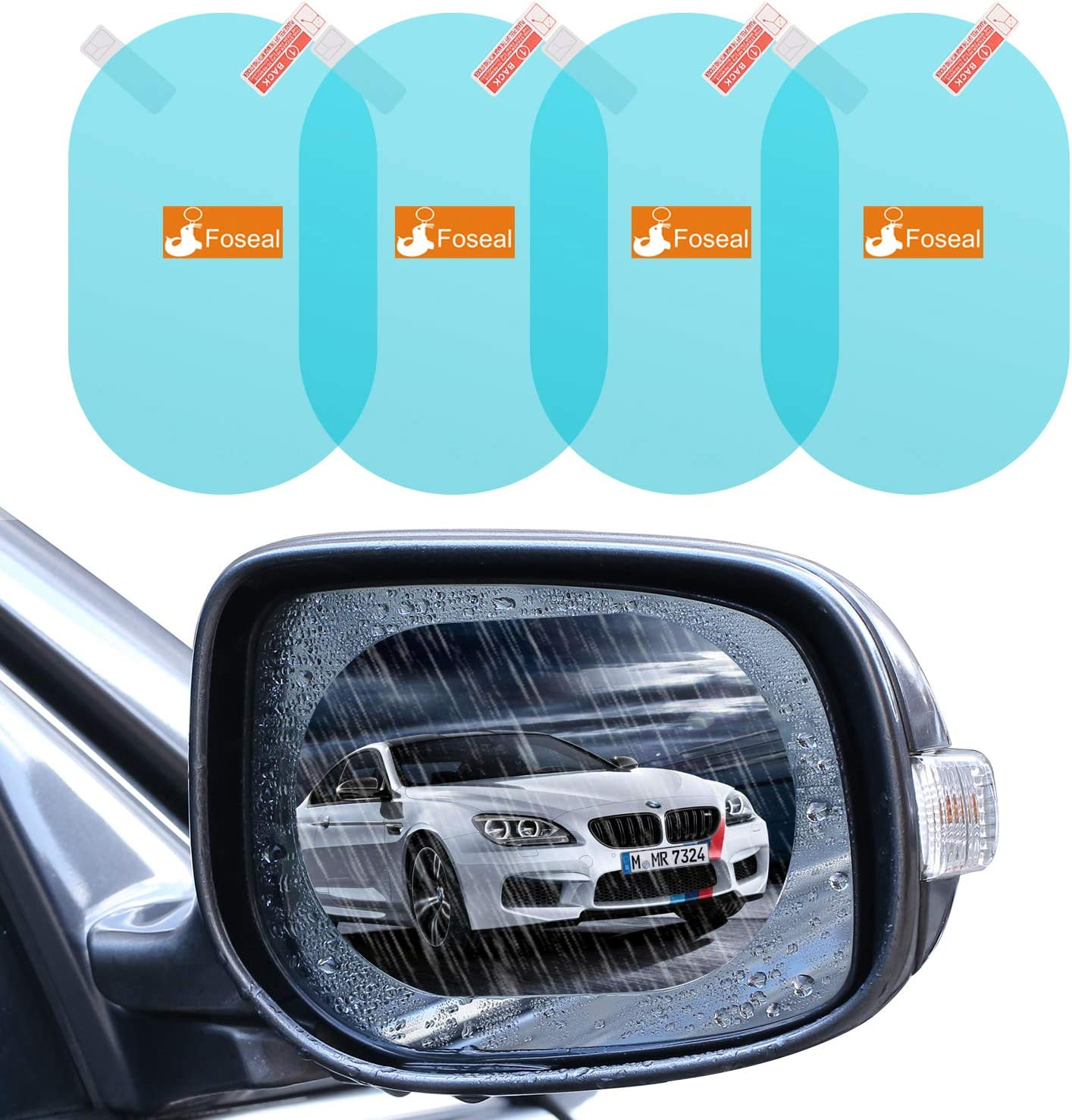 Full Screen Anti-Fog Nano Waterproof Film Side Window Hd Water Repellent Film Reversing Mirror XINdream Car Rear View Mirror Rainproof Film