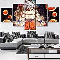 JSBVM Stampa su Tela Dragon Ball Super Immagine 5 Pannello Pittura di Arte della Parete Moderno giclée Opera d'Arte per Casa Decorazioni Decorazione della Parete