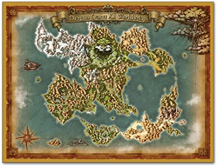 Dragon Quest Xi World Map Amazon.com: Dragon Quest XI: Echoes of an Elusive Age S World Map
