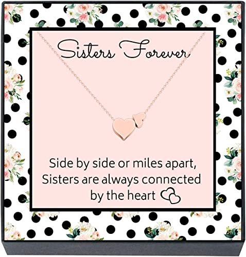 """Sentimental Sister Rhinestone Pendant 18/"""" Message Card Necklace Quote New Gift"""