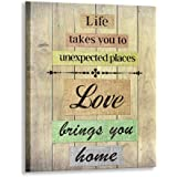 Kas Home Inspirational Quotes Motto Canvas Wall Art,Family Prints Signs Framed, Retro Artwork Decoration for Bathroom, Bedroo