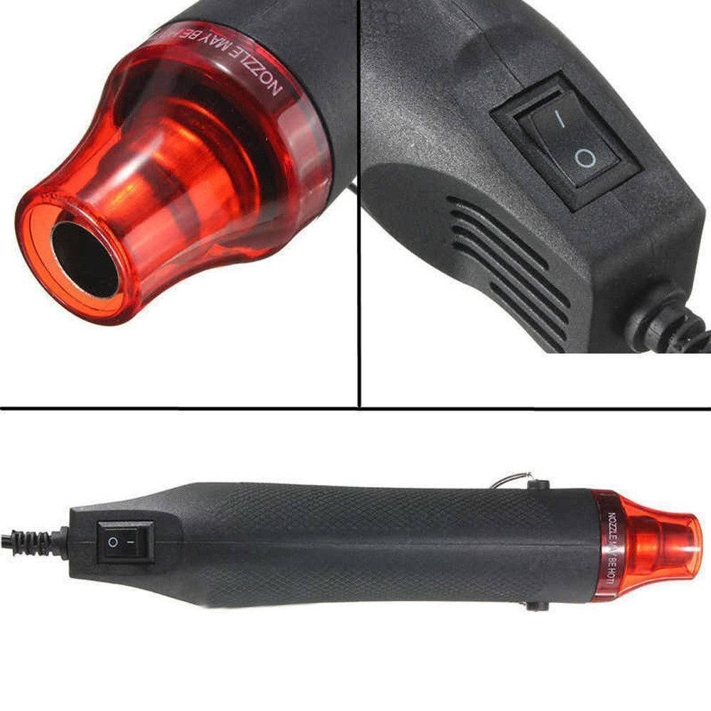 XZANTE Prise Europ/éenne 220V 300W DIY Outil De Mini Pistolet /à Air Chaud Pour S/échage De Tubes De R/étr/écissement DEmballage