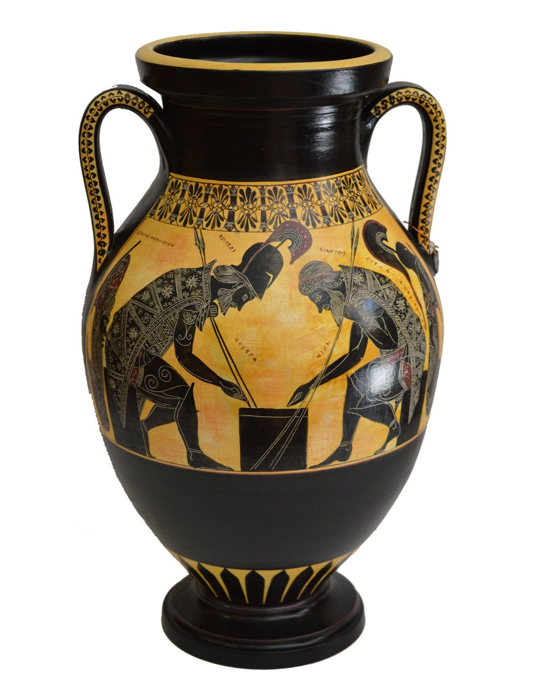 Amazon achilles and ajax exekias ancient greek amphora amazon achilles and ajax exekias ancient greek amphora vase vatican museum replica home kitchen floridaeventfo Gallery