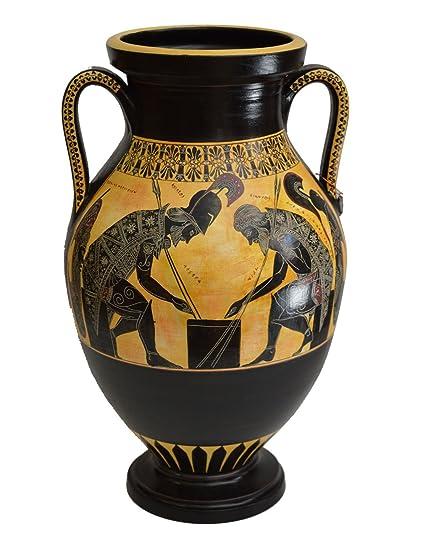 Amazon Achilles And Ajax Exekias Ancient Greek Amphora Vase