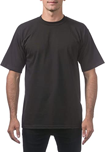 PRO CLUB PROCLUB MEN/'S HEAVY WEIGHT SHORT SLEEVE T-SHIRT WHITE BLACK BROWN NAVY