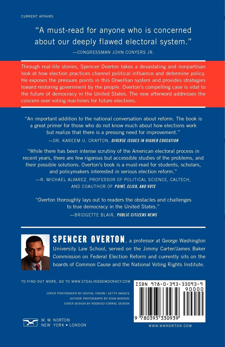 Stealing Democracy: The New Politics of Voter Suppression: Spencer ...