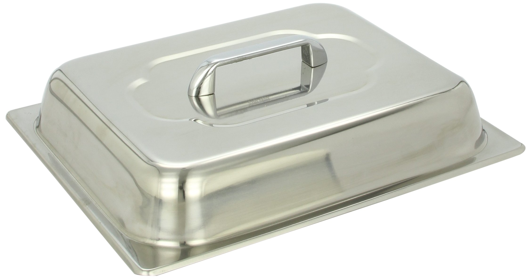 Benchmark 56747 Half-Size Domed Lid, 12-1/2'' Length x 10-1/4'' Width x 3'' Height