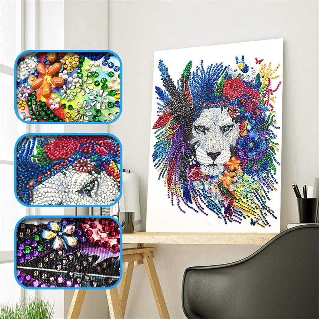 AliveGOT Special Shaped Diamond Painting DIY 5D Partial Drill Cross Stitch Kits Crystal Rhinestone of Picture Serial Diamond Embroidery Arts Craft Diamond Paintings