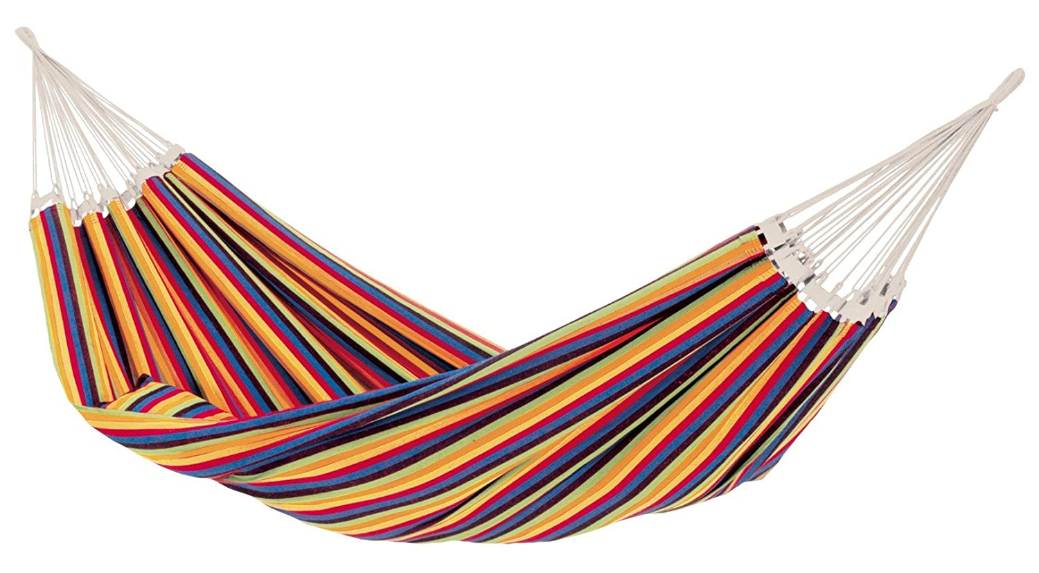 BYER OF MAINE Paradiso Hammock, Handwoven, Polyester Cotton Blend, Tropical, Double, 142 L x 68 W, Holds up to 400lbs