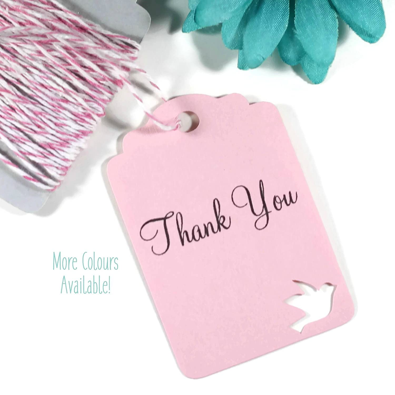 Amazon.com: Light Pink Dove Themed Thank You Tags - Wedding Favors ...