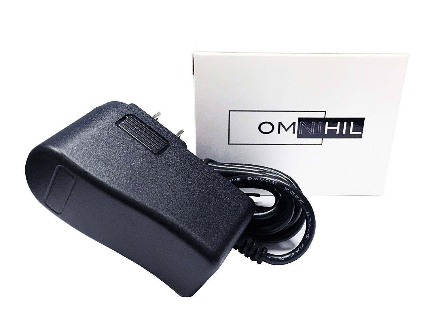 [UL Listed] Omnihil 8 Feet Power Adapter Compatible with Dynex VHS Video VCR Tape Rewinder DX-VR101
