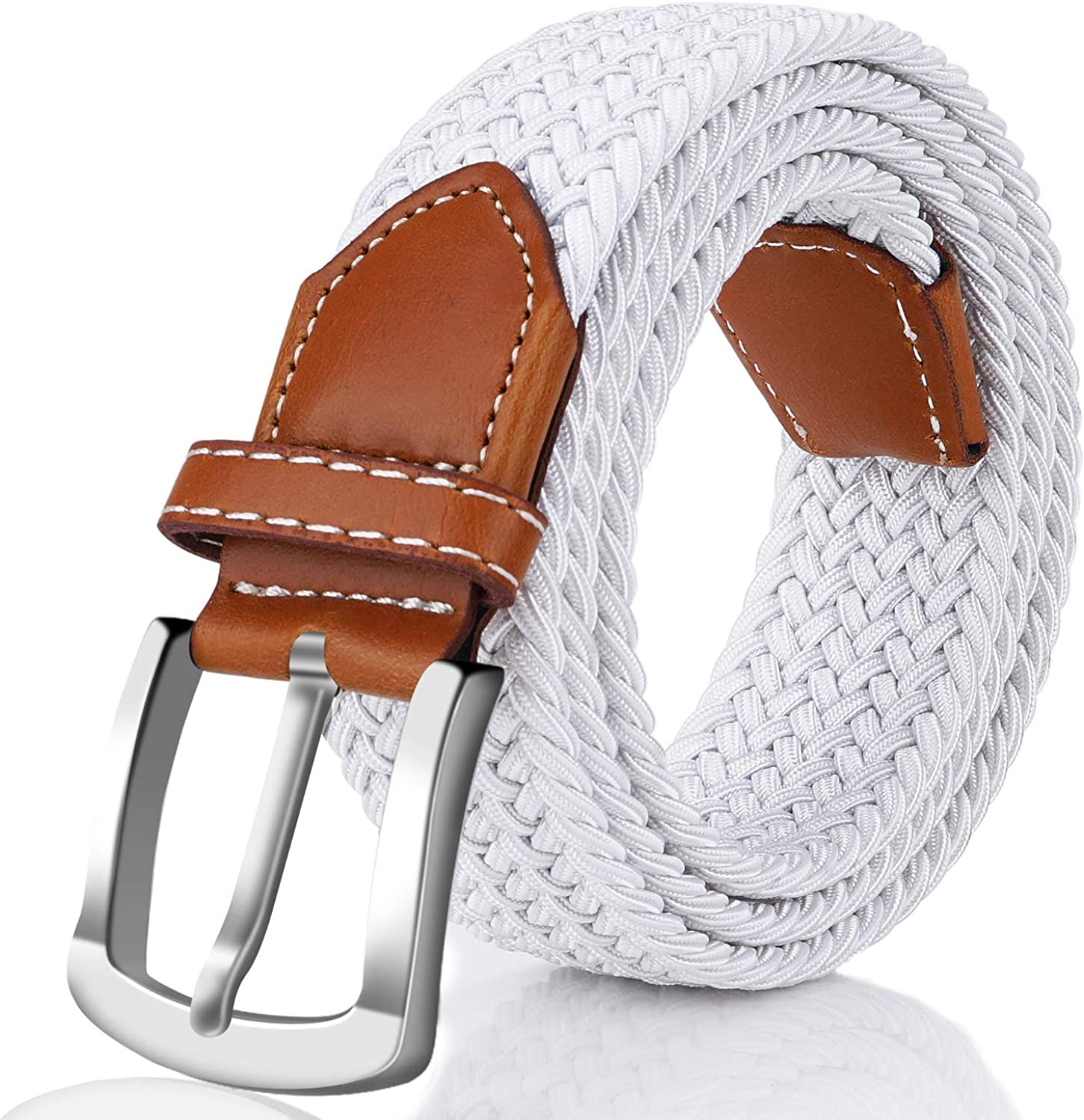 Fairwin Elastic Braided Belt 1.3 Stretch Belt Fabric Woven Belt for Men and Women