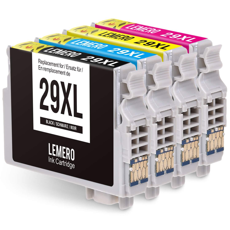 LEMERO 4 Cartuchos de Tinta Compatible para Epson 29XL 29 XL per ...