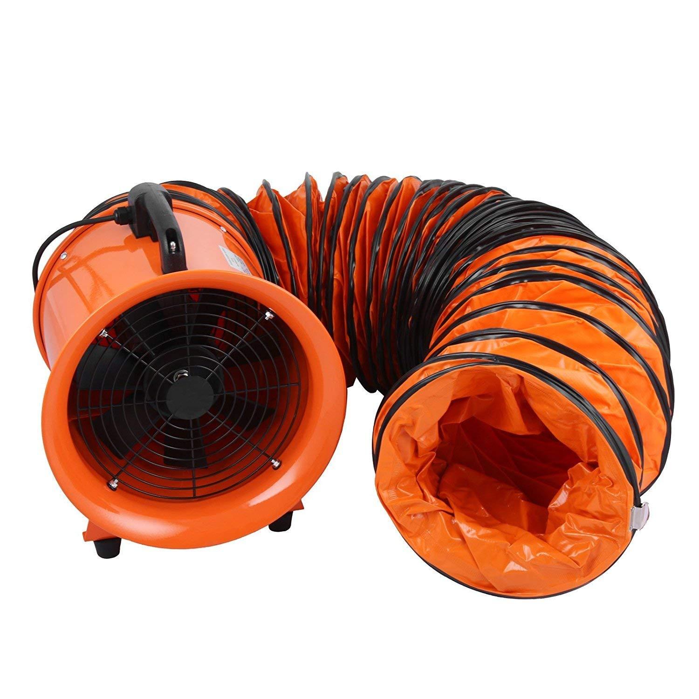 Ventilator Air Axial Metal Blower Commercial Exhaust Workshop Fan w//5 Meter Duct Mophorn Update Industrial Extractor 12 300MM