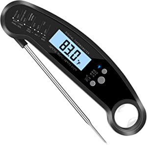 Instant Read Meat Thermometer for Grilling, Waterproof Cooking Food Thermometer Kitchen, Digital Meat Thermometer with Probe,for Candy Oil Oven Smoker