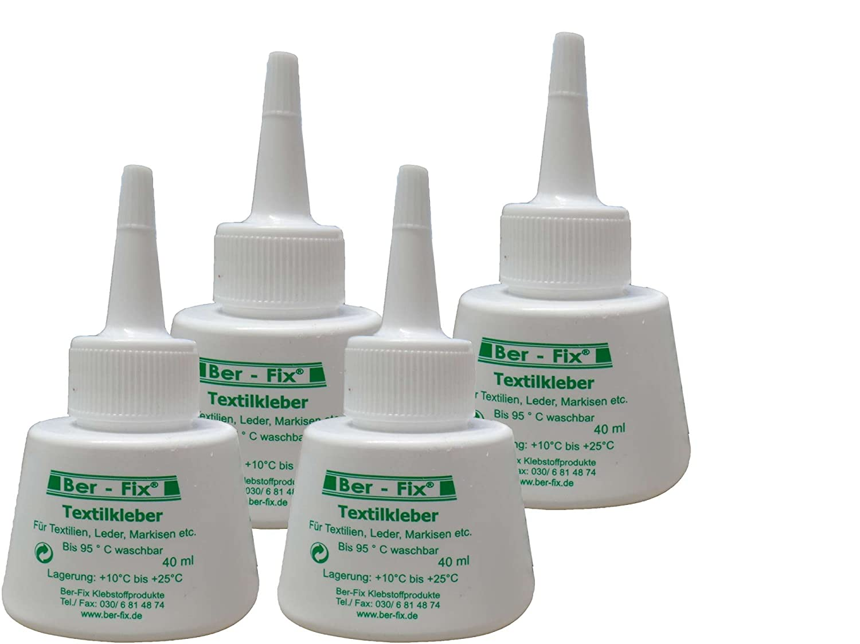 Ber-Fix Textile Glue Washable at 95° Iron-Safe 180° (40 ml)