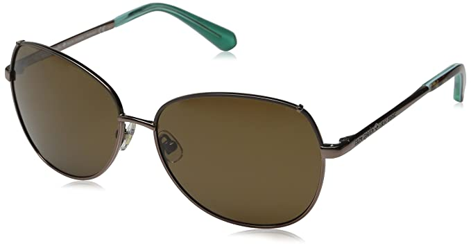 0da9ddae62e Kate Spade Women s Candida p s Oval Sunglasses Almond Brown Polarized 58 mm