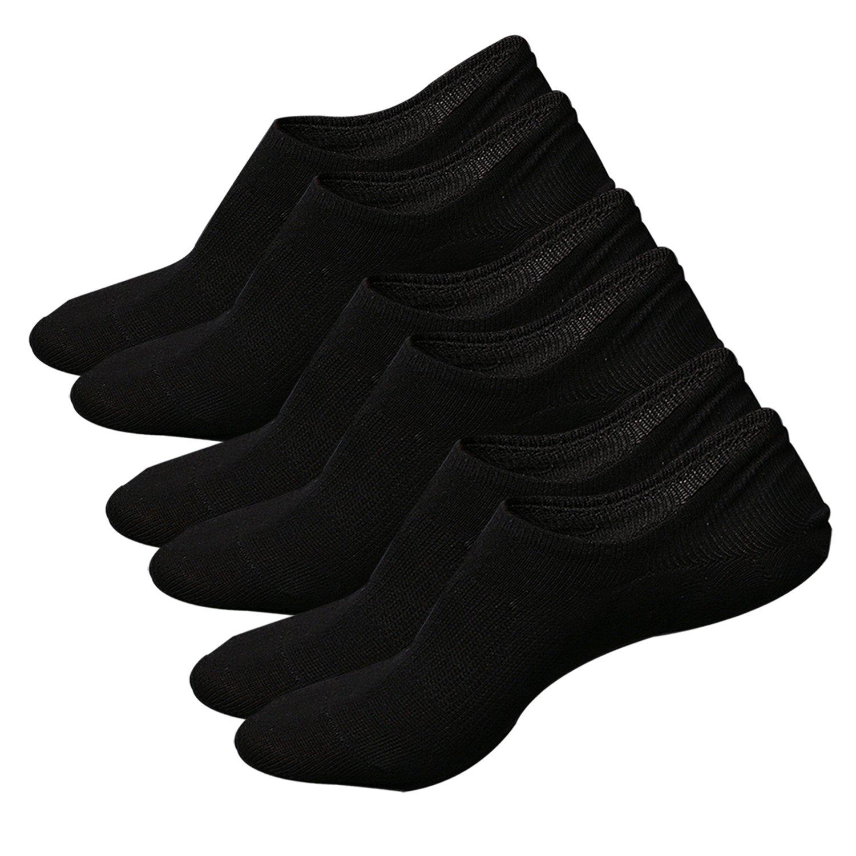 Ueither 3 o 5 Pares Calcetines Invisibles Mujer De Algodón Calcetines Cortos Elástco Con Silicona Antideslizante