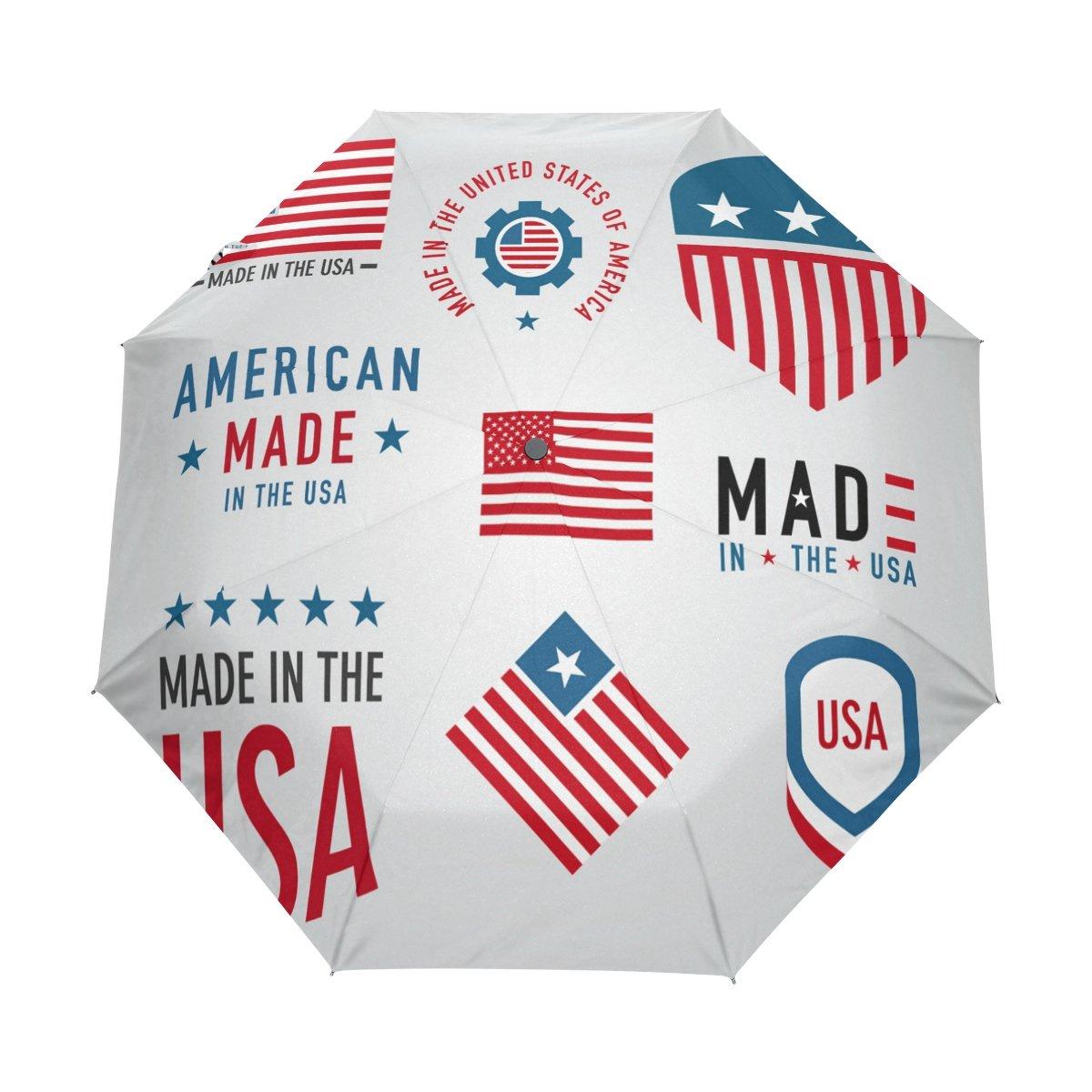 Senya Saobao防風と防雨トラベル傘with自動開いて閉じFolding Made in USAラベルコレクションポータブル折りたたみ式太陽雨傘 B07FDQ67VB