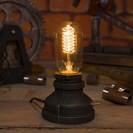Fantastic Imqoq Vintage Industrial Style Metal Pipe Table Desk Lamp Light With Edison Bulb 13 Interior Design Ideas Gresisoteloinfo