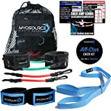 All-Star Cheer Kit for Improving Cheerleader Fitness and Performance - Kinetic Bands, Flexibility Stunt Strap, TumblePro X, Cheerleading Workout DVD