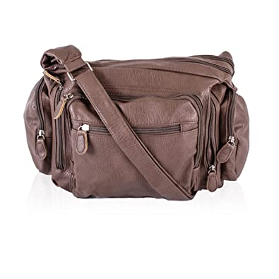6cae32285e Xardi London Medium Faux Leather Cross Body Shoulder Strap Bag For Women  Travel Camera Accessory College Handbag Small Baby Diaper Weekender Ladies  Hobo ...