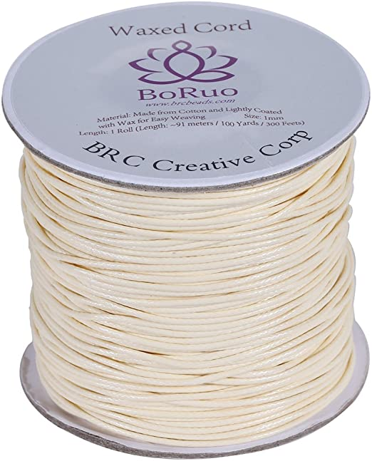 100yards//roll Environmental Waxed Cotton Thread Beading Cords Craft String 1mm
