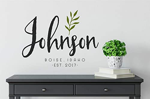 Home Wall Decal Words Decor FAMILY NAME PERSONALIZED Rustic Farmhouse Est