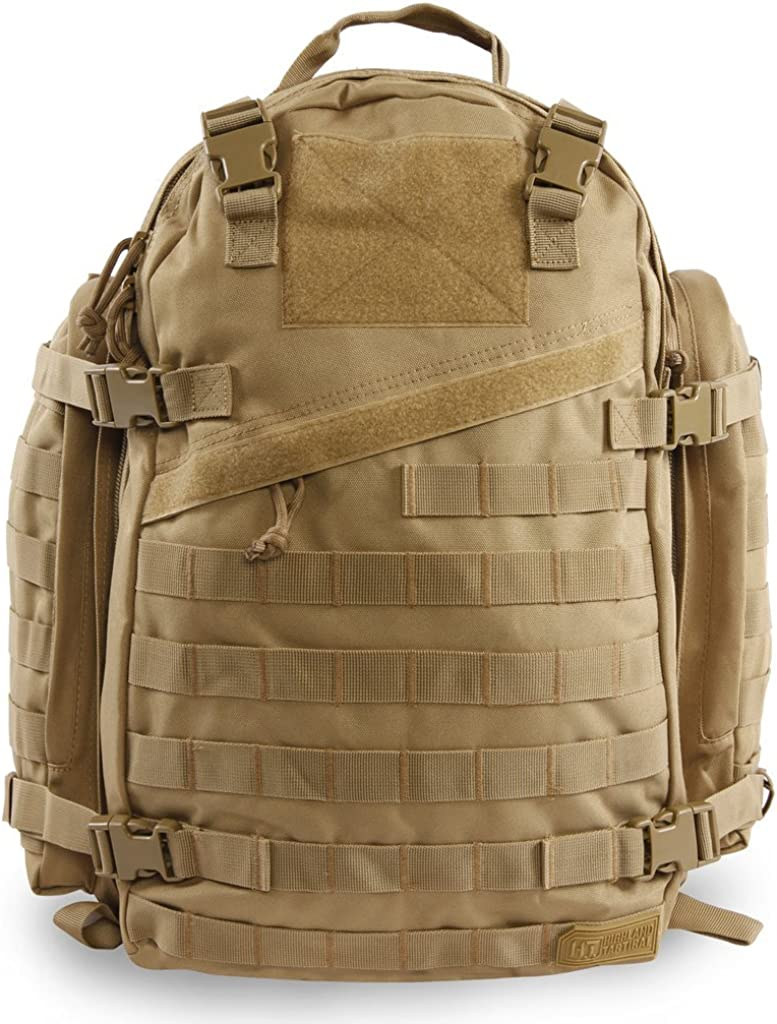 Highland Tactical Tactical Backpack, Desert, 19 Inch