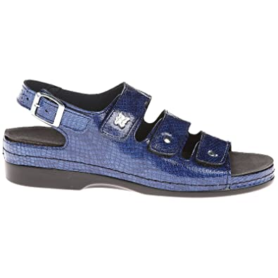 Helle Comfort Tulin Navy Womens Patent Leather Strappy Slingbacks Sandals