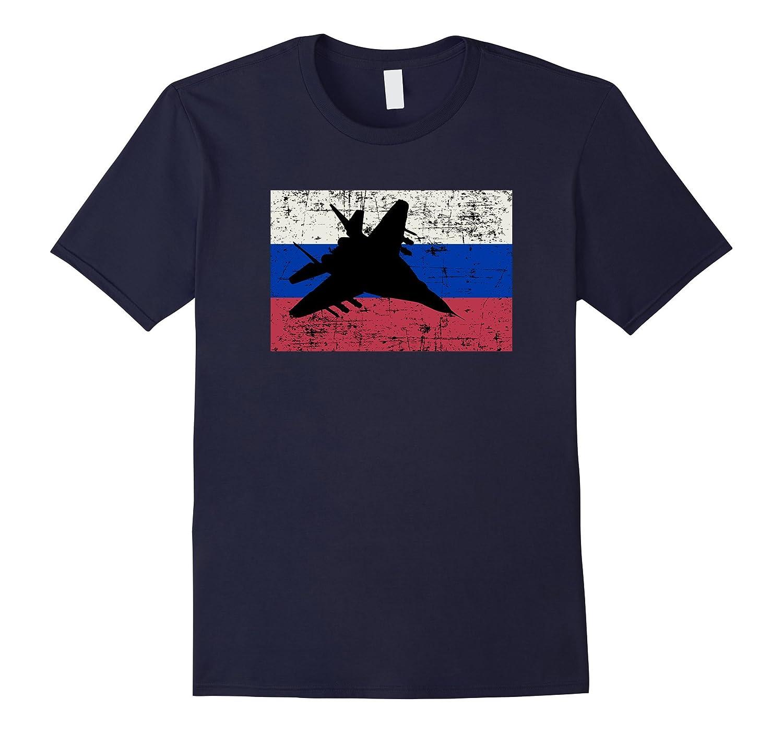 Patriotic MIG-29 jet Russian flag t-shirt-T-Shirt