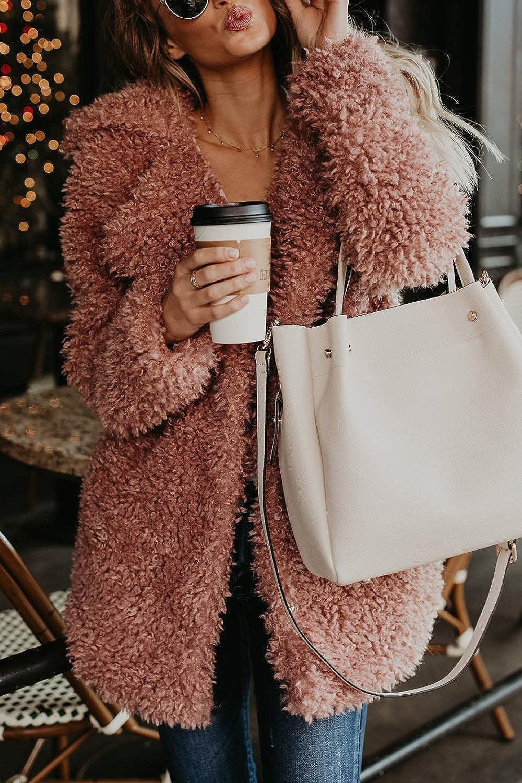 Dazosue Le Donne della Laple Inverno Caldo Cappotto Occasionale Cappotti