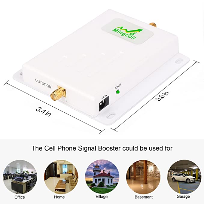 Amazon.com: at&T T-Mobile Cell Phone Signal Booster 700MHz Band 12/17 Cell Phone Signal Amplifier Repeater Mingcoll FDD ATT 4G LTE Mobile Cell Signal ...