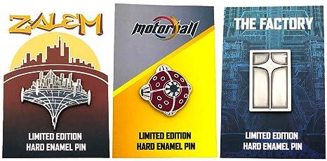 Amazon com: Alita Battle Angel Zalem MotorBall Factory Enamel Pins 3
