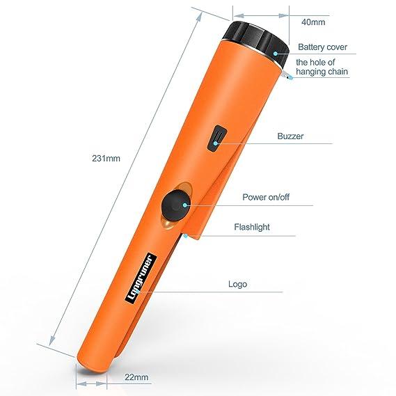 Detector Metales, Pinpointer Accesorios Detector de Metales Ajuste Automático de la Vibración del Zumbador LKW30: Amazon.es: Jardín
