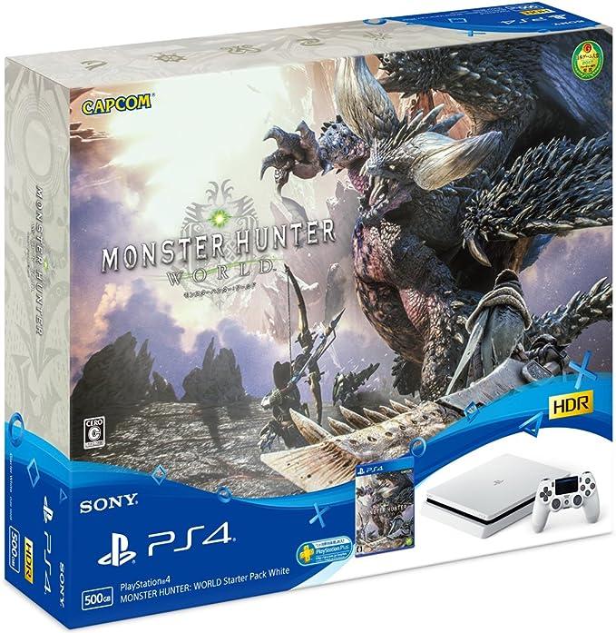 Sony Playstation 4 Slim + MONSTER HUNTER: WORLD Blanco 500 GB Wifi - Videoconsolas (PlayStation 4, Blanco, 8192 MB, GDDR5, GDDR5, AMD Jaguar): Amazon.es: Videojuegos