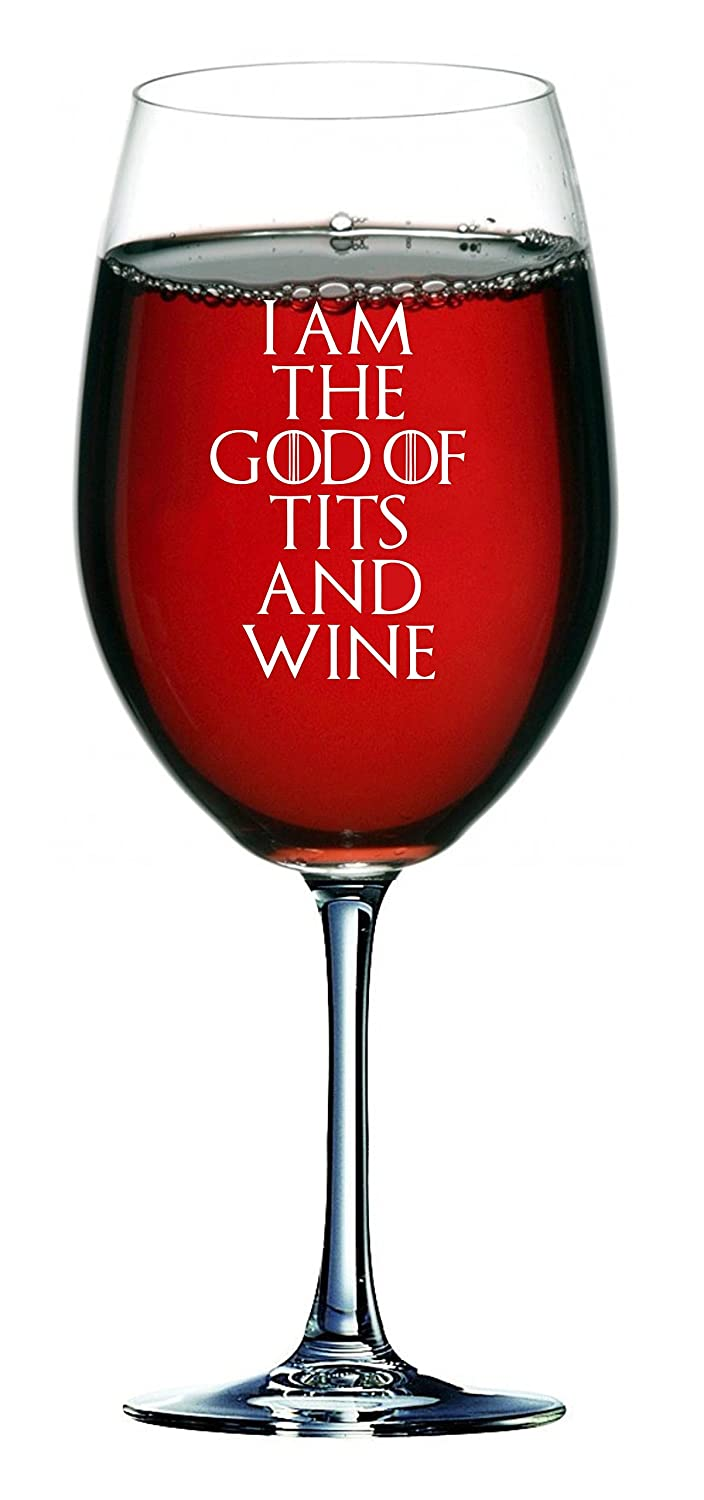 Lapal Dimension Verre /à vin Th/ème /«/Game of Thrones//» Inscription en anglais /«/I am The God of Tits and Wine//» 750/ml