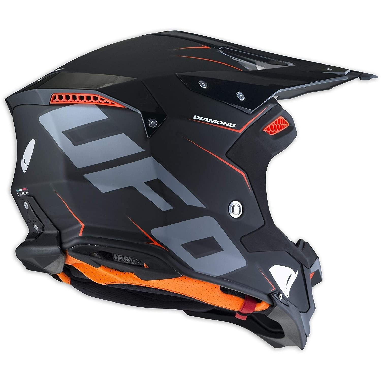 UFO Diamond - Casco para bicicleta, color negro y naranja ...