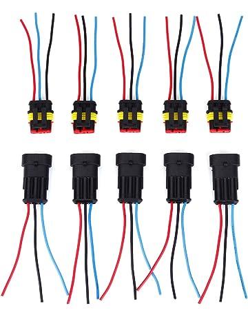 sourcingmap/® 4 Pcs H4 ampoule lampe Lumi/ère brume faisceau connecteur m/âle Voiture Adapeter Prise