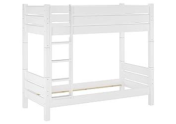 Etagenbett Weiß : Kinder hochbett weiß massiv etagenbett mit schreibtisch