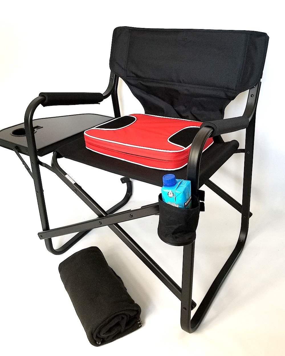 HEAVY-DUTY GRAND DADDY XL CAPTAIN Chair with UNIQUE REMOVEABLE SEAT CUSHION FOR EXTRA COMFORT, Side Table & Cup Holder-10 Years Warranty PRODUCT--SAME DAY SHIPPING by Oasis