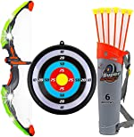 Toysery Bow and Arrow for Kids with LED Flash Lights -
