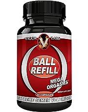 Ball Refill by Vigor Labs Semen Volumizer & Male Enhancement Supplement | Boost Sexual Drive & Libido | Improved Orgasms & Sexual Performance | Increase Semen Volume | 30 Capsules