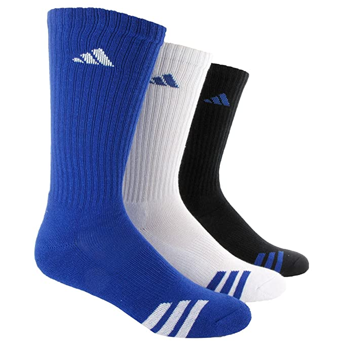 adidas Boys Cushion Crew Socks (3-Pack)