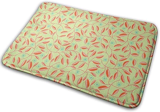 """Imagen deBLSYP Felpudo Sun Leaves Doormat Anti-Slip House Garden Gate Carpet Door Mat Floor Pads 15.8"""" X 23.6"""""""